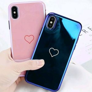 iPhone X Blue Glossy Case